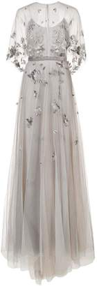 Marchesa embroidered cape gown