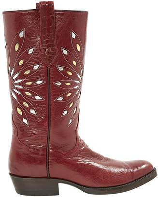 Non Signé / Unsigned Leather Cowboy Boots