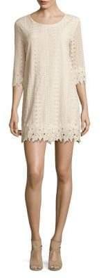 Molly Bracken Three-Quarter Crochet Lace Dress