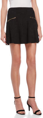 Juicy Couture Sparkle Zip Skater Skirt