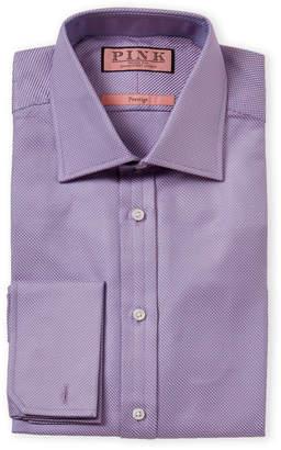 Thomas Pink Prestige French Cuff Textured Pattern Dress Shirt