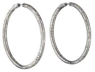 Anita Ko 18K Diamond Baguette Hoop Earrings