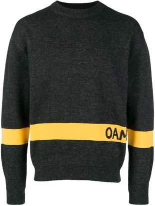 Oamc intarsia stripe jumper