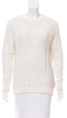 Theyskens' Theory Woven Crew Neck Sweater