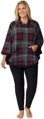Cuddl Duds Plus Size Poncho & Leggings Pajama Set