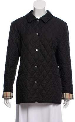 Burberry Quilted Snap-Up Jacket
