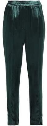 Sandro Velvet Straight-Leg Pants
