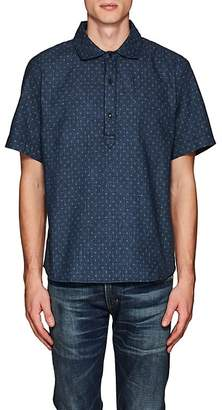 3x1 MEN'S STAR-PRINT COTTON SHIRT
