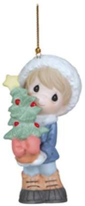 "Precious Moments Precious Moments, Christmas Gifts, ""Holidays Grow The Spirit"", Bisque Porcelain Ornament"