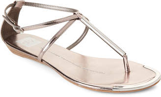 Dolce Vita Pewter Metallic Archer Flat Sandals