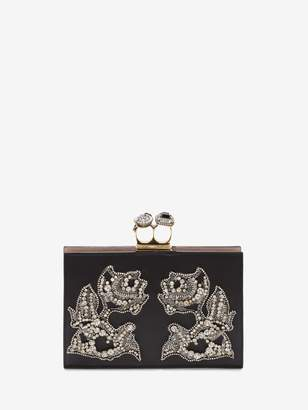 Alexander McQueen Small Jeweled Double-Ring Clutch