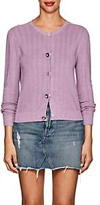 Marc Jacobs Women's Button-Detail Wool-Silk Cardigan-Lilac