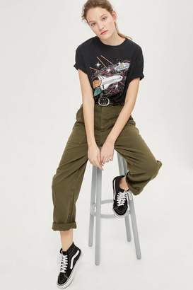 Topshop Wide Leg Utility Trousers