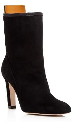 Stuart Weitzman Women's Brooks Round Toe Suede High-Heel Booties