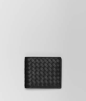 Bottega Veneta NERO INTRECCIATO COIN PURSE BI-FOLD WALLET