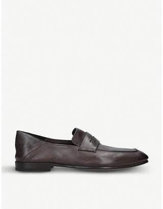 Ermenegildo Zegna Asola leather penny loafers