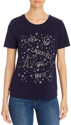 Karl Lagerfeld Paris Beaded Tee