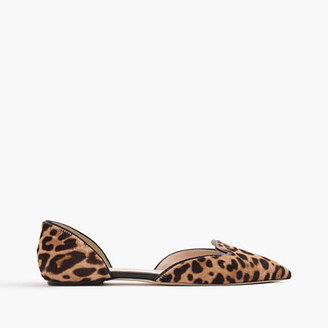 Sadie loafer flats in leopard calf hair $198 thestylecure.com