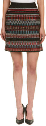 Karen Millen Tweed Wool-Blend Mini Skirt