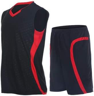 d76fd008ca Vansydical Men's Jersey Sportswear Running Sports Sets Basketball Summer  Shirts Quick Dry Shorts
