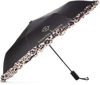 Nanette Lepore Auto Open Leopard Umbrella