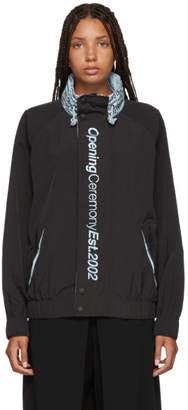 Opening Ceremony Black Crinkle Nylon Wind Jacket