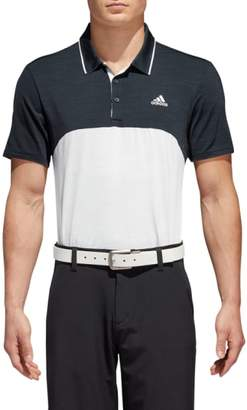 adidas GOLF Ultimate Heather Colorblock Regular Fit Polo Shirt