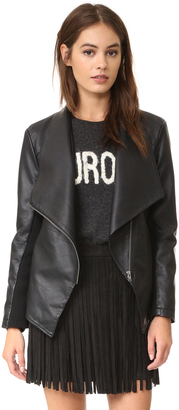 BB Dakota Carmen Vegan Leather Jacket $105 thestylecure.com
