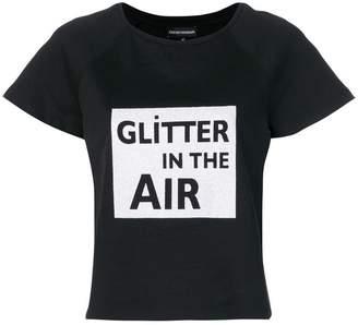 Emporio Armani Glitter in the Air print T-shirt