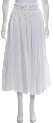 Loewe Linen Embroidered Skirt w/ Tags White Linen Embroidered Skirt w/ Tags
