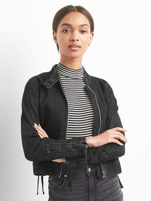 Gap Lace-Up Denim Moto Jacket