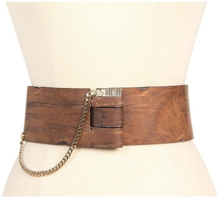 Diesel Bino Belt (Dark Brown) - Apparel