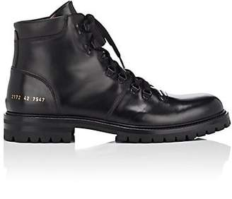 Common Projects Men's Leather Hiking Boots - Black