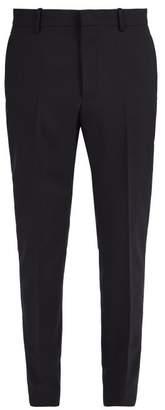Stella McCartney Straight Leg Tailored Wool Trousers - Mens - Navy