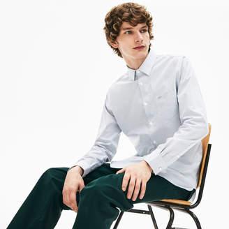 Lacoste Men's Regular Fit Striped Cotton Poplin Shirt