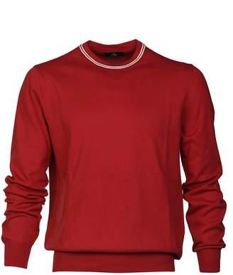 Fay Striped Trim Sweater