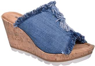Minnetonka Womens York Fabric Open Toe Casual Mule Sandals Multicolor Size 7.0