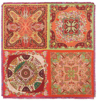 Etro Goa Printed Silk-twill Scarf - Red