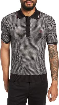 Fred Perry Tipped Houndstooth Polo