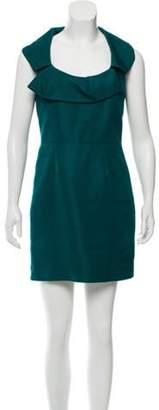 Lela Rose Scoop Neck Mini Dress Teal Scoop Neck Mini Dress