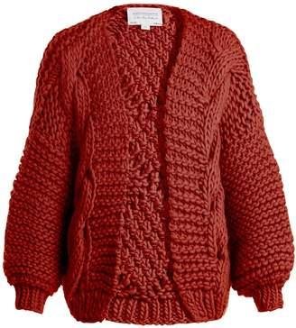 I LOVE MR MITTENS Diamond-knit wool cardigan