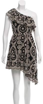 LoveShackFancy Asymmetrical Eyelet Dress