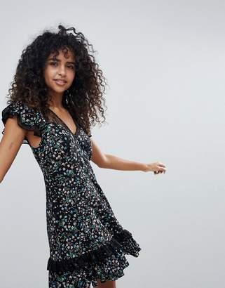New Look Lace Frill Tea Dress