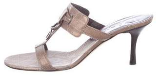 Christian Dior Leather T-Strap Sandals