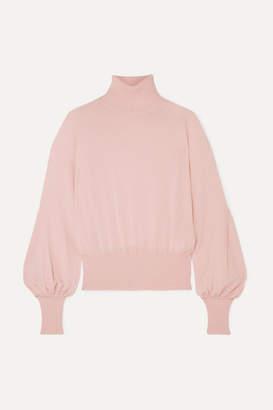 Antonio Berardi Merino Wool Turtleneck Sweater - Baby pink