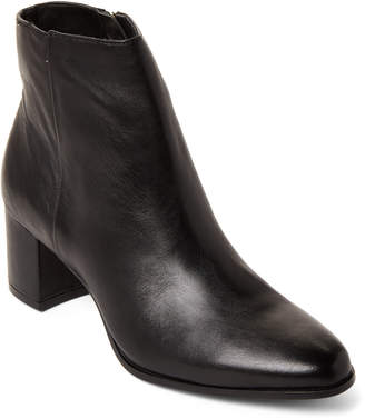Calvin Klein Black Fimora Leather Ankle Booties