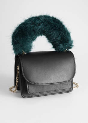 And other stories Faux Fur Handle Mini Bag