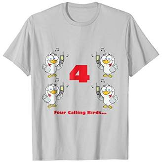 Four Calling Birds T-shirt from the Twelve Days of Christmas
