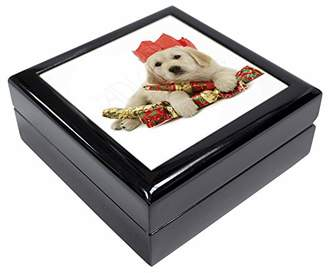 Golden Retriever Christmas Keepsake/Jewellery Box Christmas Gift