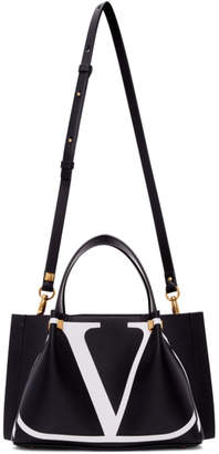 Valentino Black Garavani Small VLogo Escape Shopper Tote